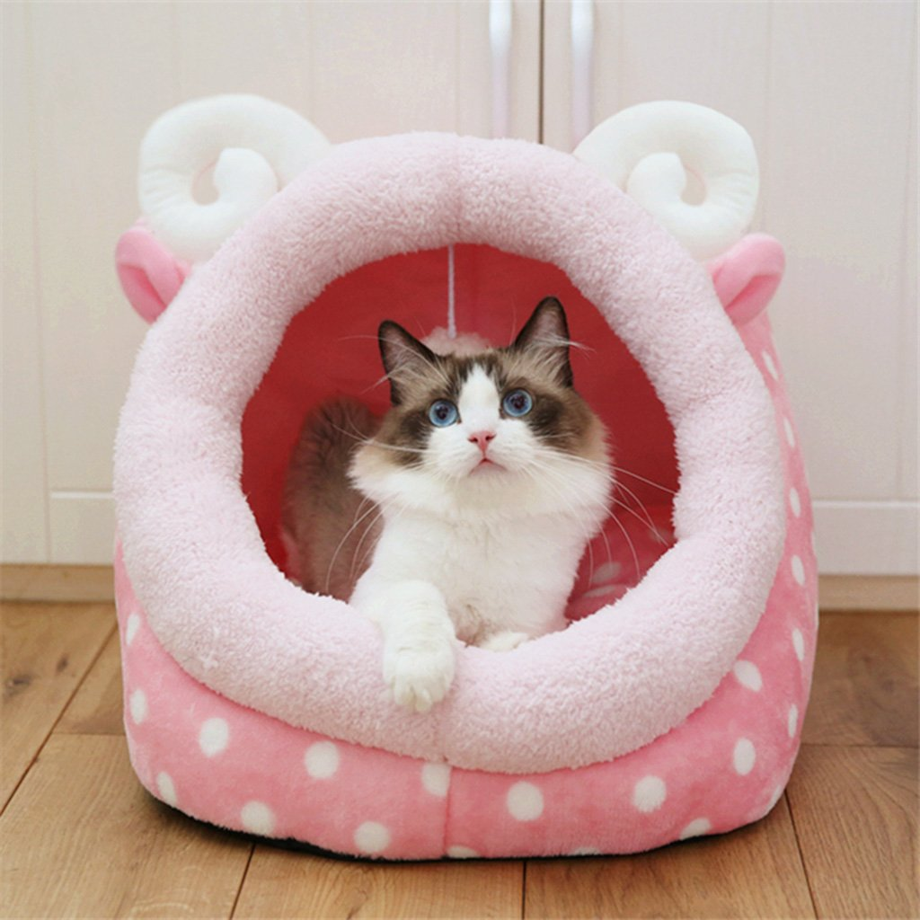 1 M 1 M %Pet Bed Cat Litter Cat Supplies Closed Cat House Removable Yurt Cat Bed Pet SuppliesX262 Pet Supplies (color   1, Size   M)