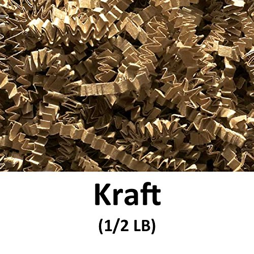 Crinkle Cut Paper Shred Filler (1/2 LB) for Gift Wrapping & Basket Filling - Kraft | MagicWater Supply