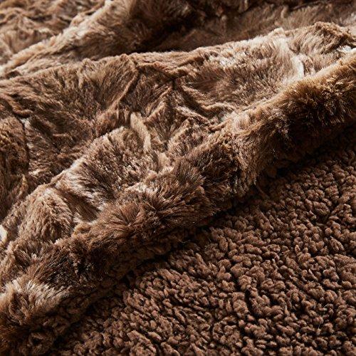 Chanasya Faux Fur Throw Blanket Super Soft Fuzzy Light