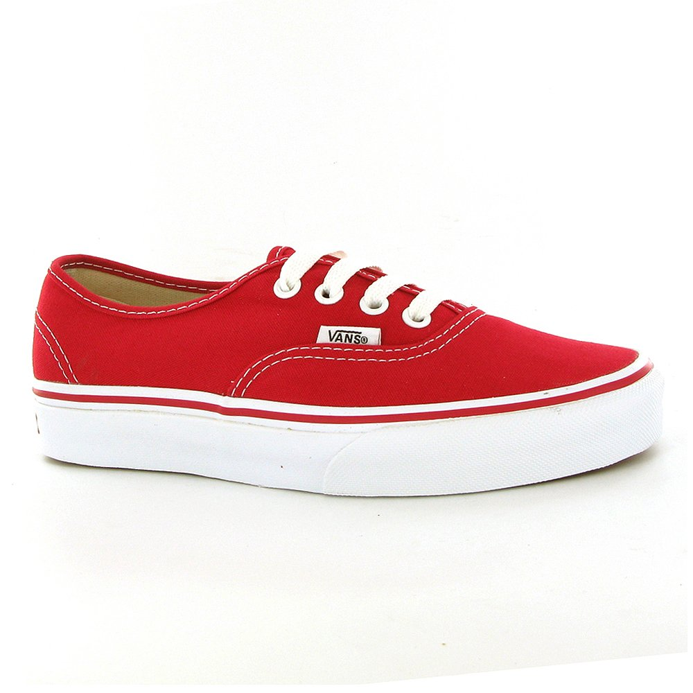Vans Unisex Authentic Red Canvas VN000EE3RED Mens 4.5, Womens 6 by Vans