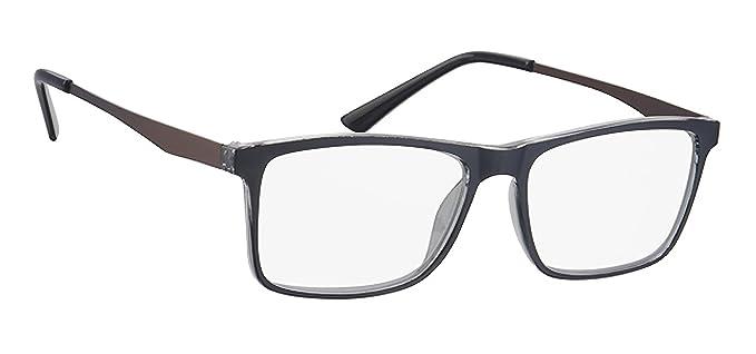 A-Urban Occhiali da lettura uomo + 1.5 diottrie 1 5 - il colore della montatura grigio trasparente UBRUUzd