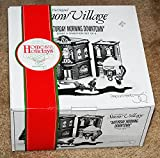 """Department 56 Snow Village """"Saturday Morning Downtown"""" Start a tradition Kringles Toy Shop, Nikkis Cocoa shop 8 piece set"""