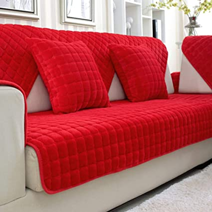amazon com wjx likerr wedding red sofa cover fabric sofa cushion rh amazon com ektorp red sofa cover red sofa cushion covers