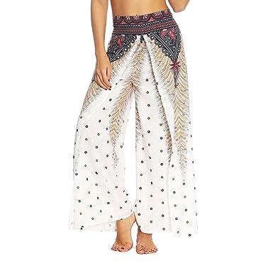071686fcf0 Amazon.com: Soly Tech Women Baggy Harem Pants Yoga Gym Dance Hippie Boho  Gypsy Loose Wrap Trousers: Clothing