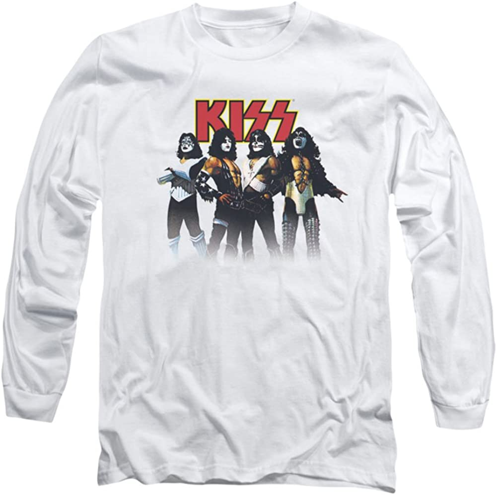 KISS Rock Band THROWBACK POSE Licensed Adult T-Shirt All Sizes