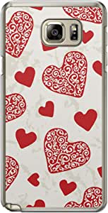 Loud Universe Samsung Galaxy Note 5 Love Valentine Printing Files A Valentine 11 Printed Transparent Edge Case - Beige/Red