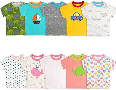 PROTAURI Paquete de 5 Body para bebé, 3-24 Meses Camisetas ...