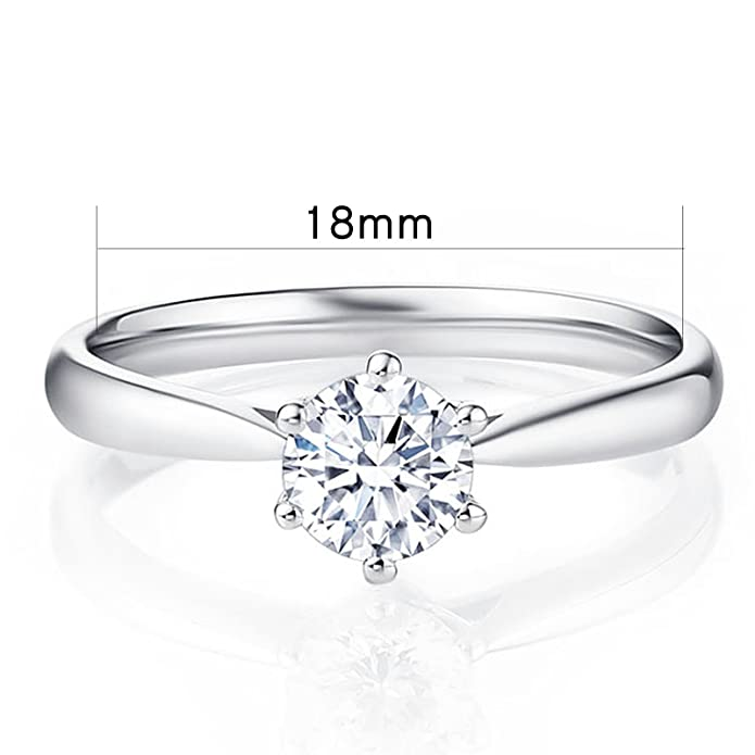 MultiWare Fashion 925 Solid Sterling Silver Ring Classic Women Beautiful Gift 4tVnHnnij