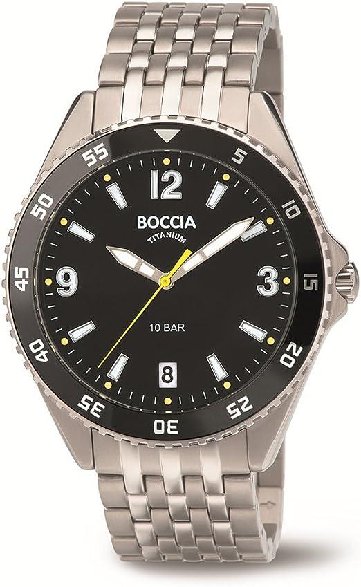Boccia Reloj Digital para Hombre de Cuarzo con Correa en Titanio 3599-03