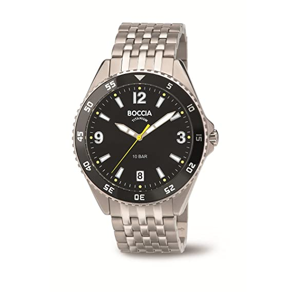 Boccia Reloj Digital para Hombre de Cuarzo con Correa en Titanio 3599-03: Amazon.es: Relojes