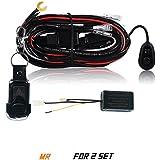 AFTERPARTZ® R2 Remote interrupteur pour lampe de travail 25M gamme relais pour 2 lampes d'éclairage 6 mode étanche IP67 fusible de 30 a