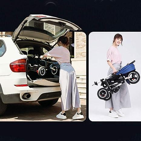 JYY Respaldo reclinable Kids Trike - Triciclo Plegable para niños ...