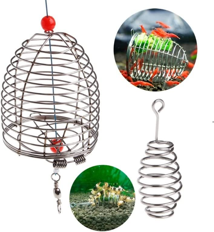 Kocome Aquarium Shrimp Small Bait Feeder Dry Spinach Feeding Stainless Steel Cage