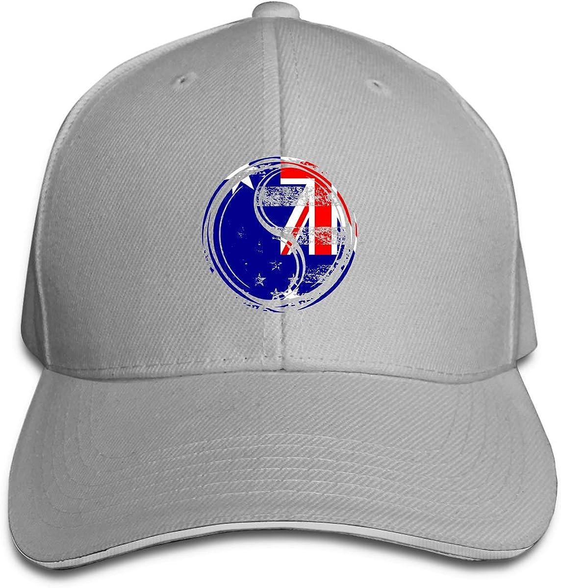 Yin Yang Australian Flag Outdoor Snapback Sandwich Cap Adjustable Baseball Hat Dad Hat
