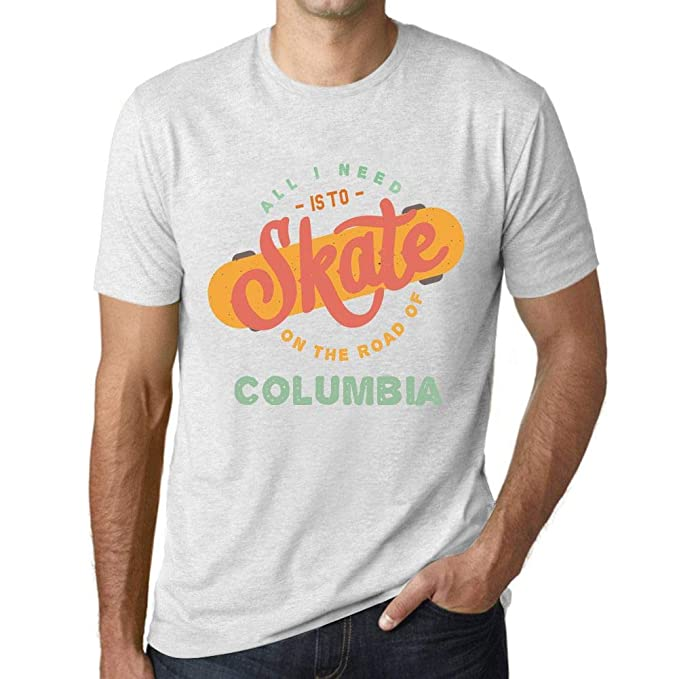 12a002f18d9 Amazon.com: Men's Tee Shirt Graphic T Shirt On The Road of Columbia ...