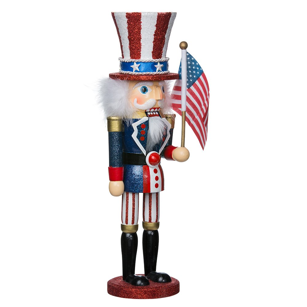 Hollywood Kurt Adler 15-Inch Wooden Uncle Sam Nutcracker