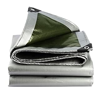 MEI XU Tenda da Sole Telone in Argento Rivestimento in polietilene per Esterni Pioggia e ossidazione Tenda da Sole Caravan Isolamento Termico 180 g / m2, 18 Misure Disponibili @