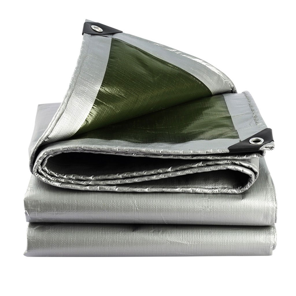 Tarpaulin Tarpaulin Silver Polyethylene Coating Outdoor Rain And Oxidation Sun Shade Caravan Thermal Insulation 180g/m2, 18 Sizes Available (Size : 3X3m)