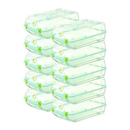 10 Cajas De Capacidad Gran Zapatos Plástico Pack OzO6xqa8