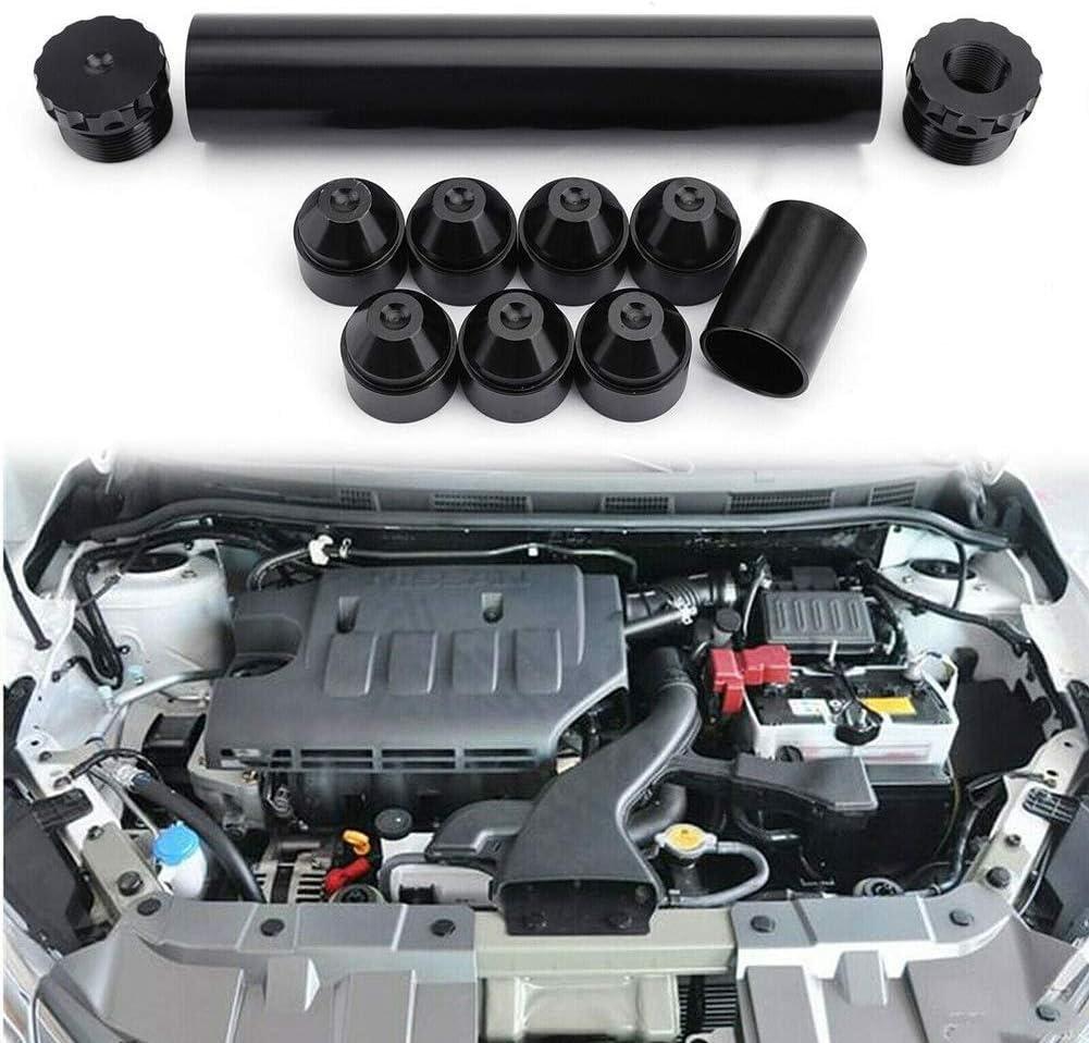 Professional Replacement Car Fuel Filter Aluminum Car Spare Oil Filter Cone Filter Element 1//2-28 1 Set 5//8-24