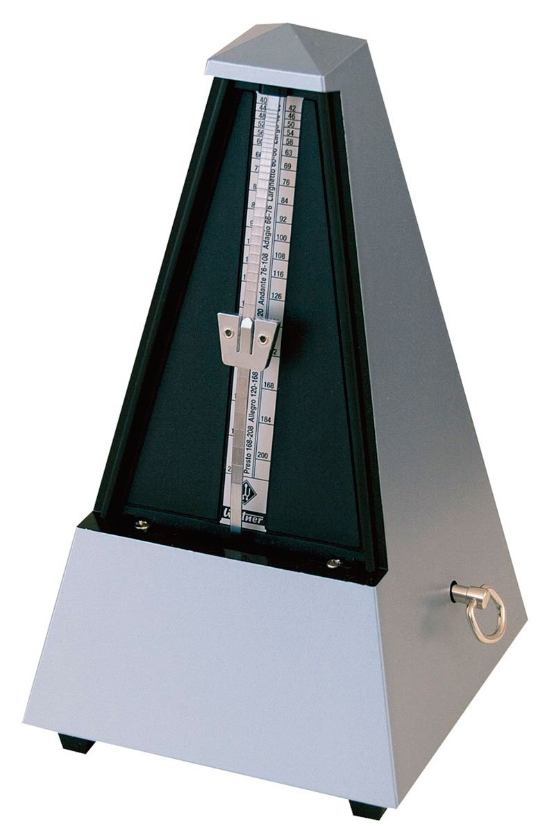 Wittner 903556 Plastic Casing Metronome with Bell, Dark Silver