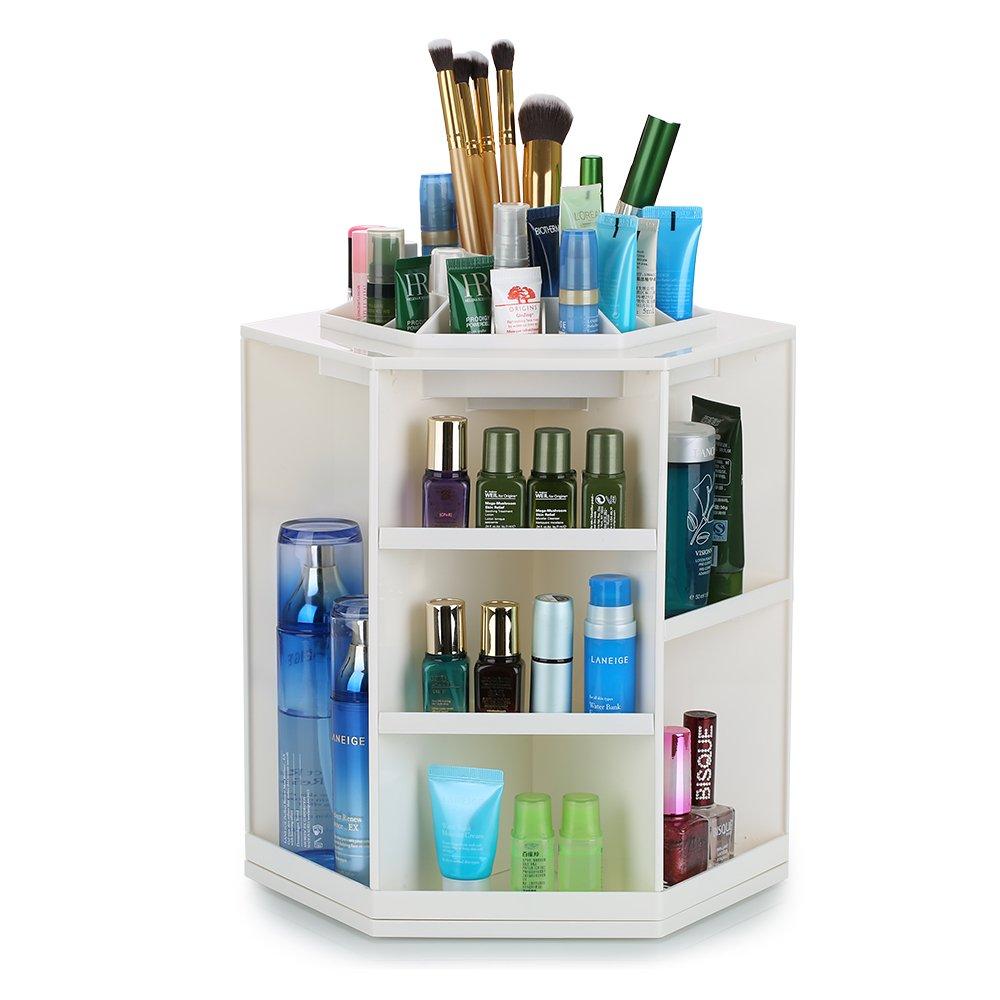 Hotrose Drehbarer Kosmetik-Organizer/Make-up-Aufbewahrung für Mädchen, für die Tischplatte fü r die Tischplatte