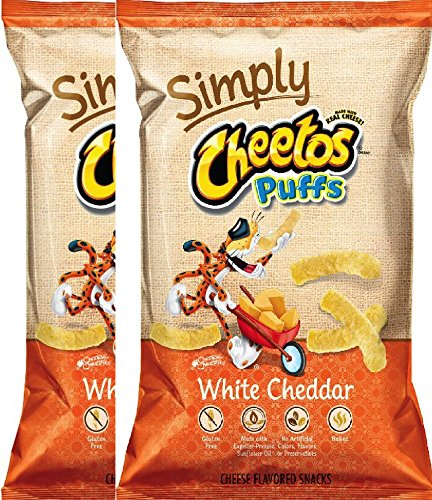 Cheetos Puffs Cheese Snacks, Simply White Cheddar Puffs 8 Ounce (pack of - Cheese Cheetos