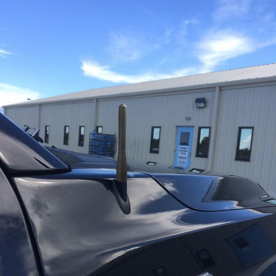 Maxracing Short Aluminum Antenna Compatible with 07 to 2020 Chevy Silverado