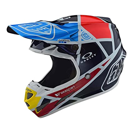 Troy Lee Designs Motocross Off-Road SE4 Helmet Carbon; Metric (Navy, Large