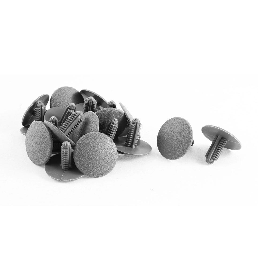 7.5mm Loch Durchmesser Grau Kunststoff Niet Verkleidung Befestigung Nieten Clips de 20 Stk