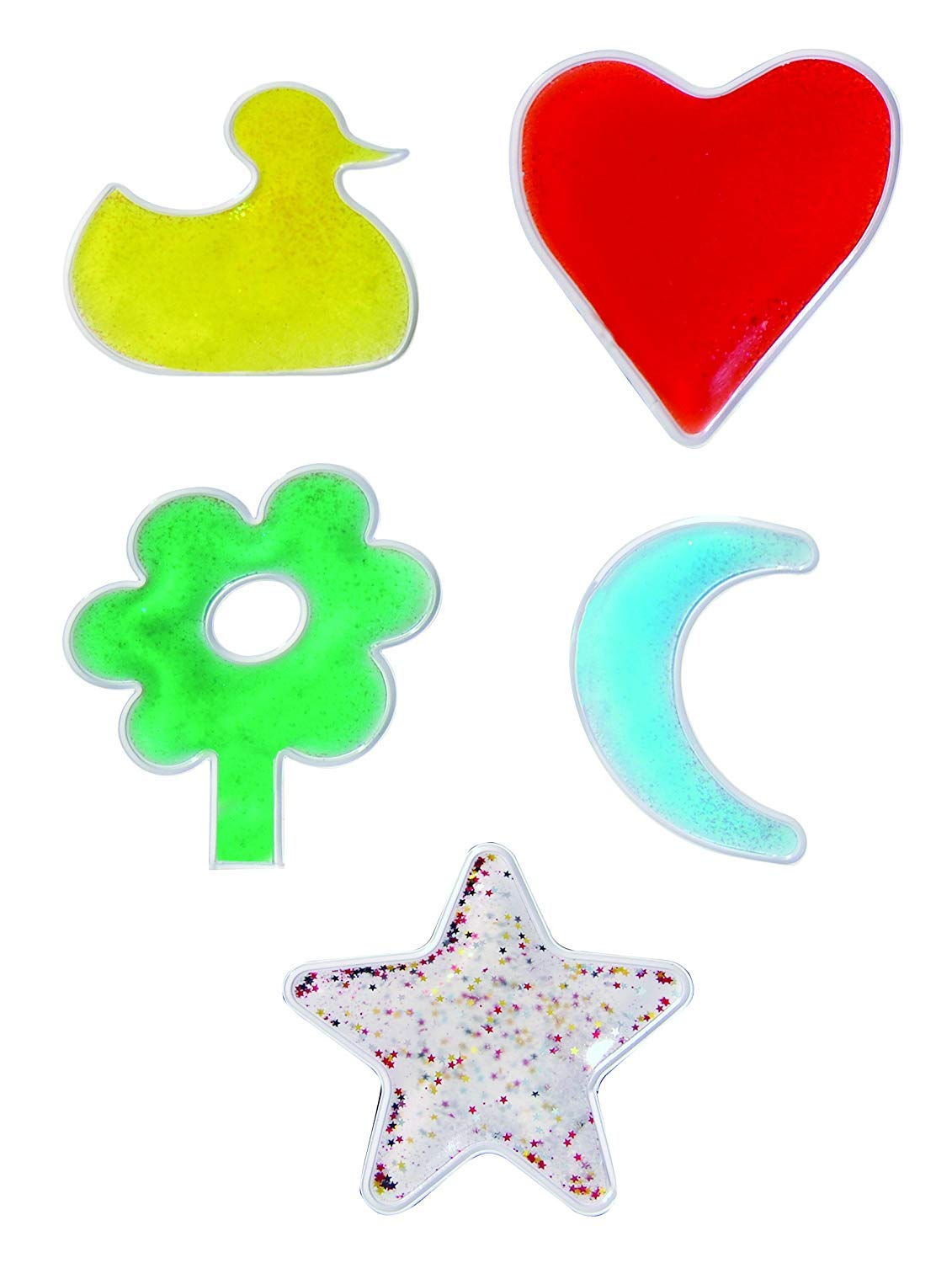 Sensory Stimulation Clear Geometric Gel Shapes
