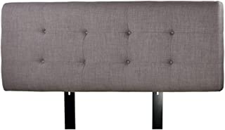product image for MJL Furniture Designs Ali Padded Bedroom Headboard Contemporary Styled Bedroom Décor, HJM100 Series Headboard, Gray with Red Tint Finish, Twin Sized, USA Made
