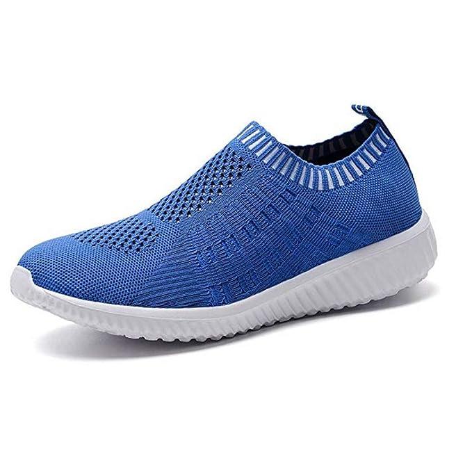PAOLIAN - Zapatillas de Running de Malla para Mujer Azul Azul 63 ...