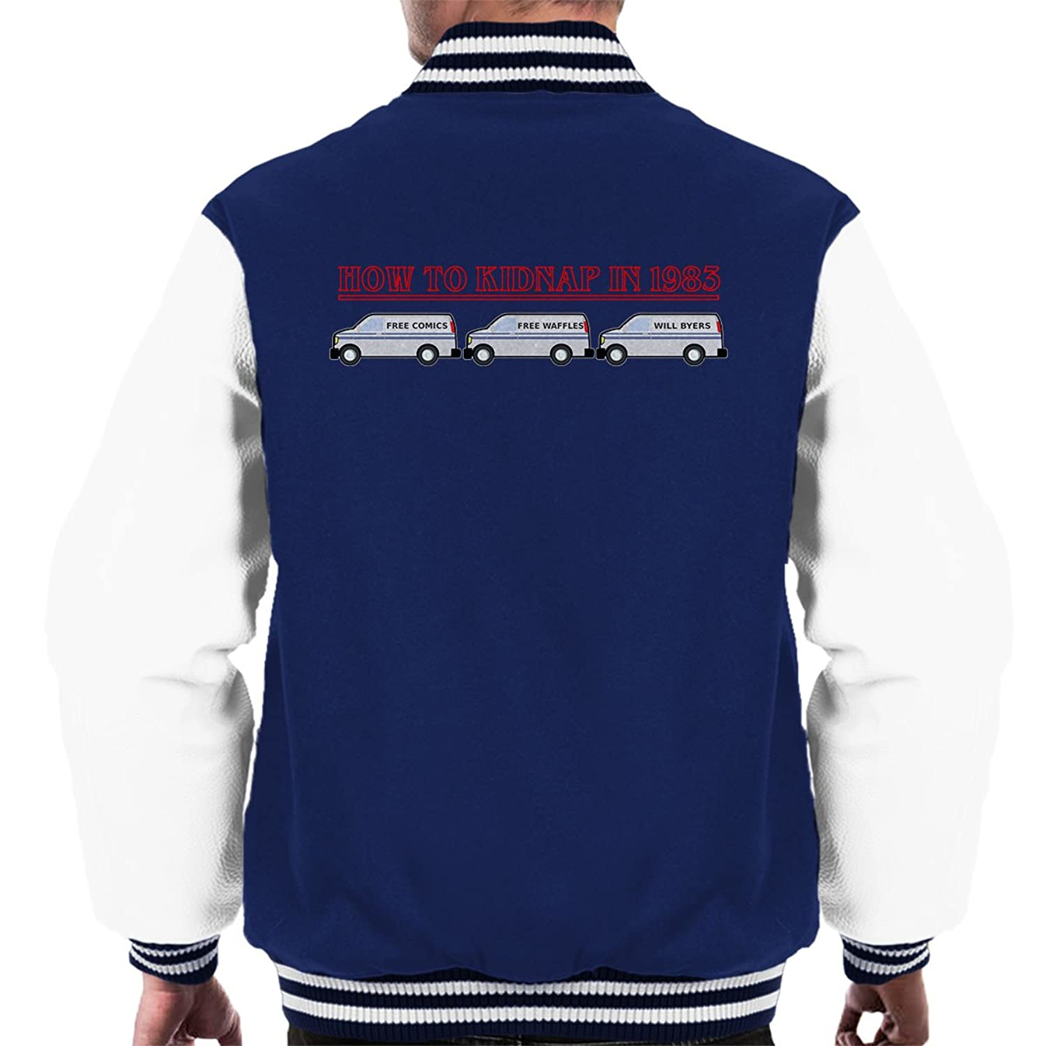 Stranger Things How To Kidnap In 1983 Men's Varsity Jacket