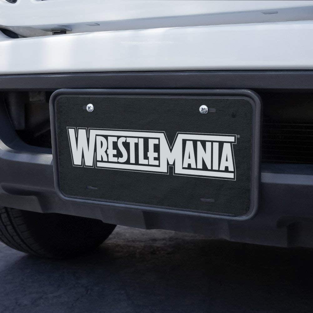 Graphics and More WWE Wrestlemania Logo Novelty Metal Vanity Tag License Plate