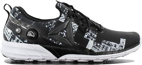Reebok Zpump Fusion 2.5 Hazard Uomo Calzature Nero Scarpe da Uomo Sneaker Top