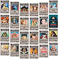 Big Fun One Piece Wanted Posters 28.5cm×19.5cm, New Edition, Luffy 1.5 Billion, Set of 24