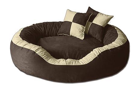 BedDog PRINS Beige/Marron XL Aprox. 95x80cm colchón para Perro, 12 Colores,