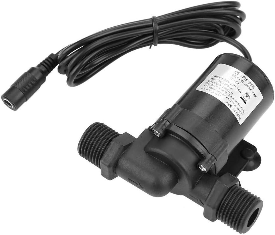 FTVOGUE Pump Bomba de Circulación de Ahorro de Energía sin Escobillas de la Bomba de Agua Mini DC para Calentador de Agua Solar 24V -40 ℃ ~ 100 ℃