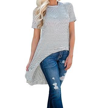 LILICAT® Camiseta a rayas, blusa casual de moda 2018 manga corta de verano con