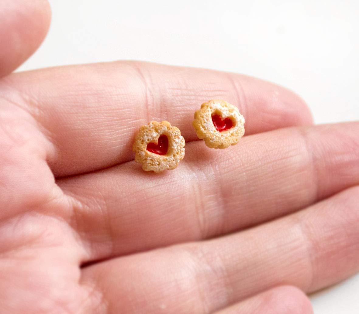 Marmeladenkeks Ohrstecker - MINI - Weihnachten: Amazon.de: Handmade