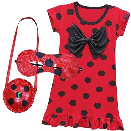 amazon com owlfay miraculous ladybug dress up costume for women