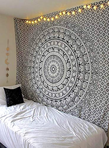 Popular Handicrafts tapestry wall hangings Black and White Hippie