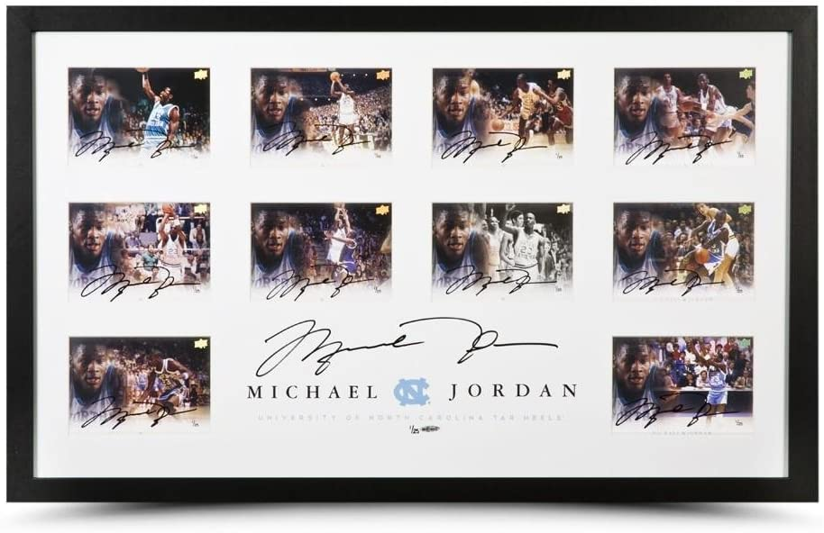 Michael Jordan Autographed University of North Carolina Collection - Upper Deck - Autographed College Photos
