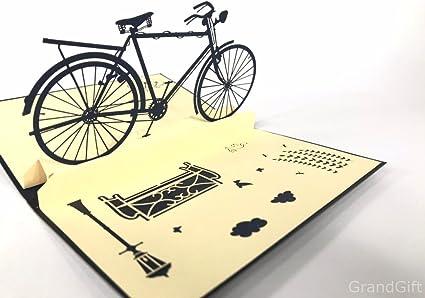 Tarjeta de felicitación vintage para bicicleta, diseño de Mercedes ...