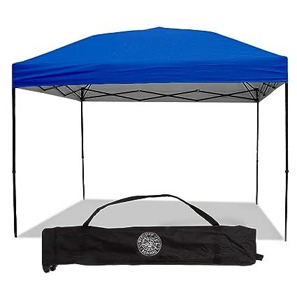 wholesale dealer 84abc a2cd9 Punchau Pop Up Canopy Tent 10 x 10 Feet, Blue - UV Coated, Straight Leg,  Waterproof Instant Outdoor Gazebo Tent, Bonus Roller Carry Bag
