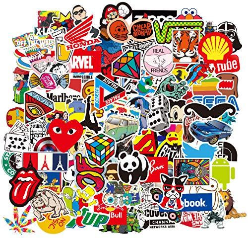 🥇 Water Bottle 100 Stickers Laptop Stickers Pack 100 Pcs Decals for Water Bottle Laptop Ipad Car Luggage Helmet