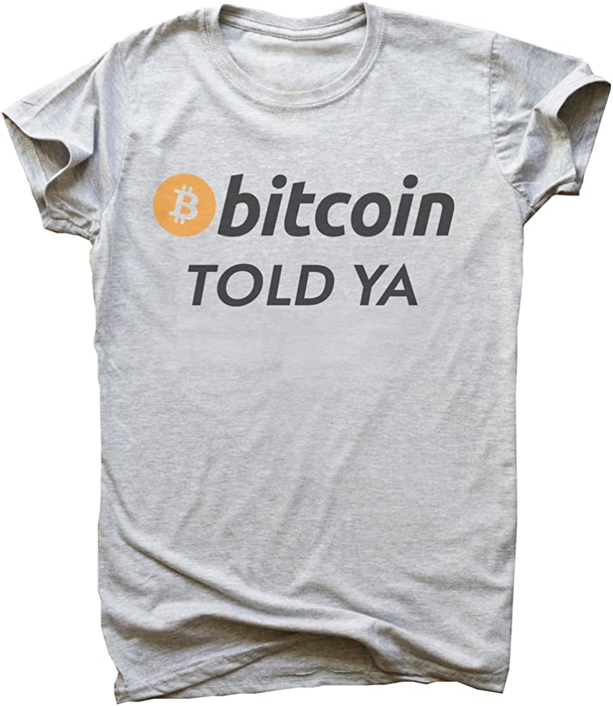 IDcommerce Bitcoin Told Ya Mens T-Shirt XX-Large Gray