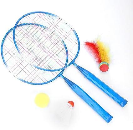 Yanyan Childrens Beginners Trainer Exercise Badminton Racket Nylon Ball Set