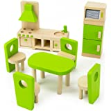 ikea miniature furniture. wooden wonders eatin kitchen and dining room set colorful dollhouse furniture 9pcs ikea miniature
